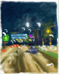 6 am in Federal Highway, Kuala Lumpur