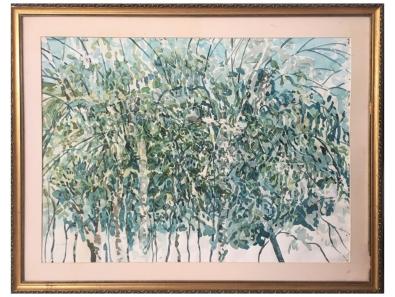 """Zahari Hamidon, """"Tropica"""", 1995, Watercolor, Private Collection"""