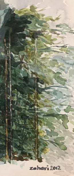 Zahari Hamidon, 2014, Watercolor, Private Collection