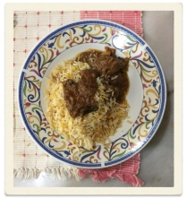 Baryani Rice, Baru Pahat with Chciken baryani and gravy
