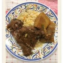 Baryani Rice, Baru Pahat with Chciken baryani and gravy with dalcha