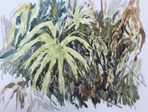 Artist: Zahari Hamidon Title: Bushes #1 Year: Medium: Watercolor on paper Price: Size: