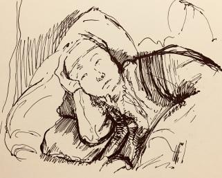 Imitation of Rembrandt's drawing by Zahari Hamidon 2018